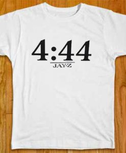 4 44 jayz time whiteT-shirt