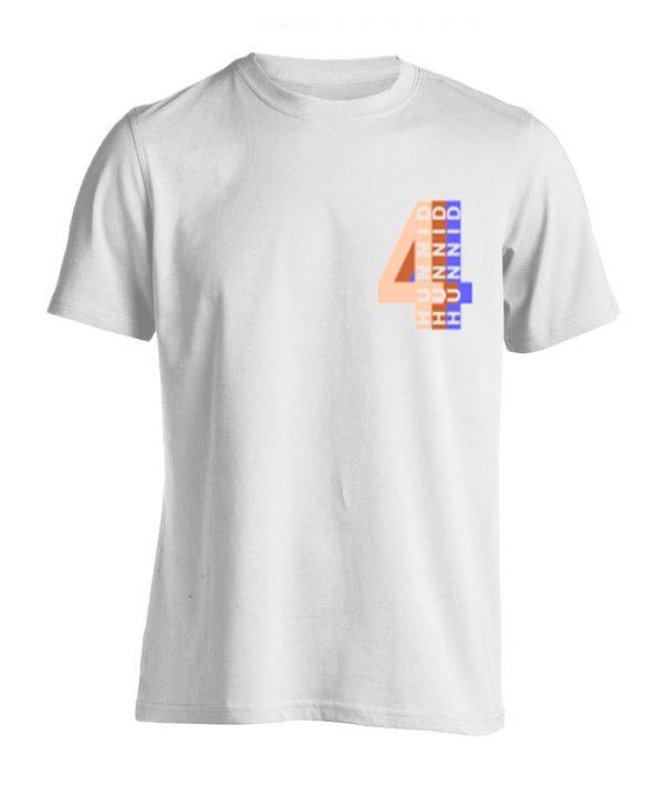 4 Hunnid WhiteT Shirt