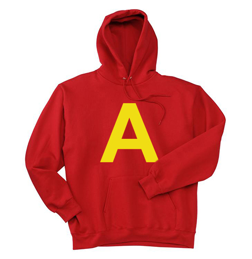 A red Hoodie
