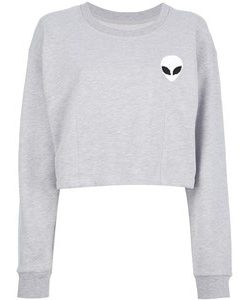 Alien Crop Sweatshirt