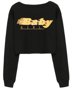 Baby Girl Cropped Sweatshirt