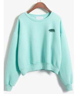 Bear Sweatshirt shoft light green