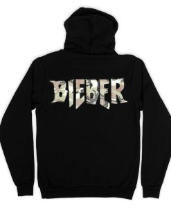 Bieber Back  Black Hoodies