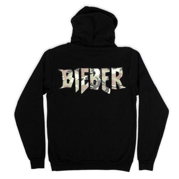 Bieber Back  Black Hoodies
