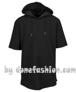 Black short sleeve Man Hoodie