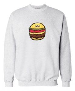 Burger Grey white Sweatshirt