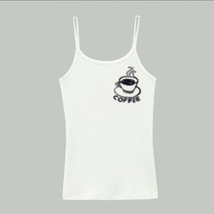 Coffee  White Tank Top