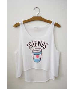 Friends white tank top