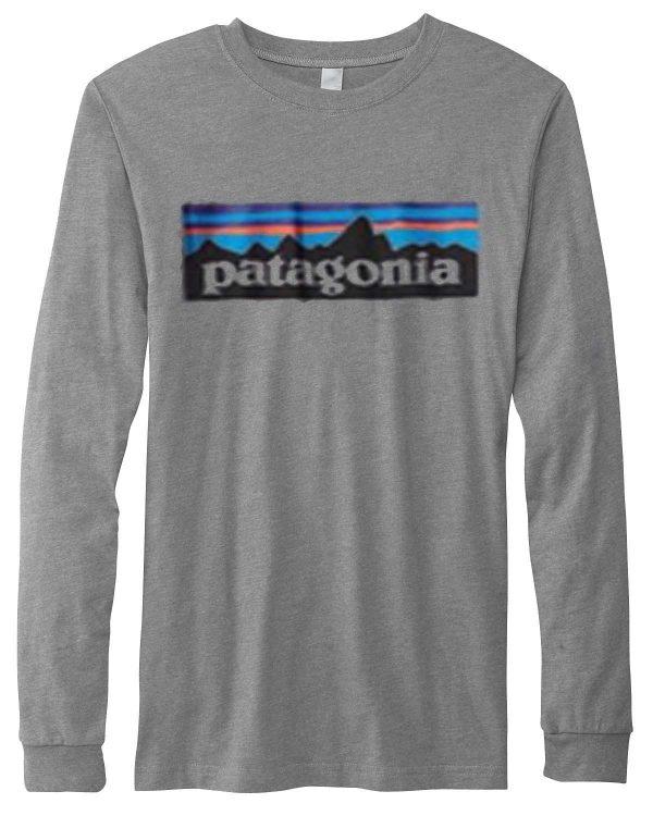 Pantagonia grey long sleave shirt