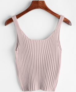 Ribbed Tank Top -SheIn(Sheinside)