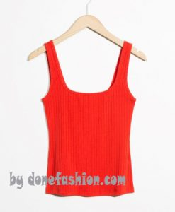 Solid Ribbed Tank Top