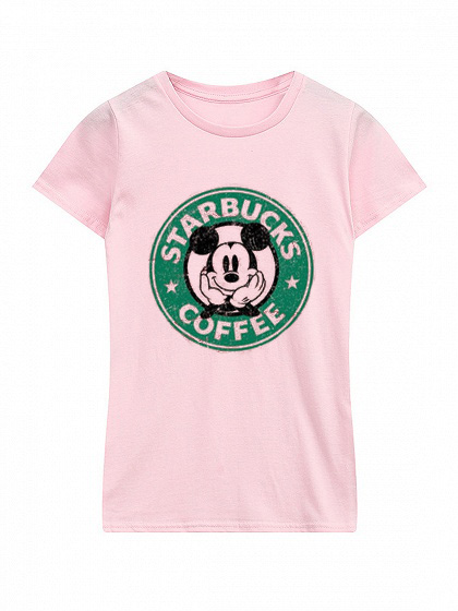 Starbucks Mickey Mouse pink t-shirt