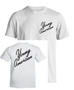 Young American white T-Shirt