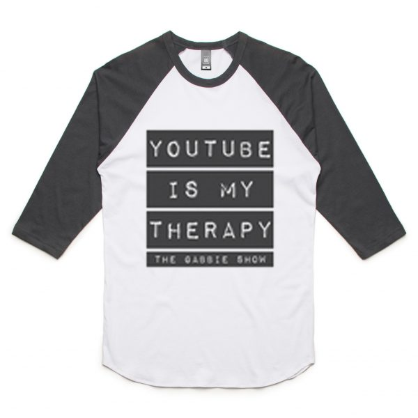 Youtube is my therapy raglan t-shirt
