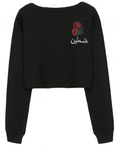 arabian rose black short sweatshirt