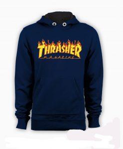 blue trasher hoodie