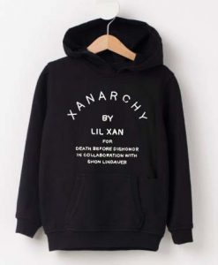 x anarchy black hoodies