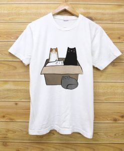 4 Cats in a Box T Shirt