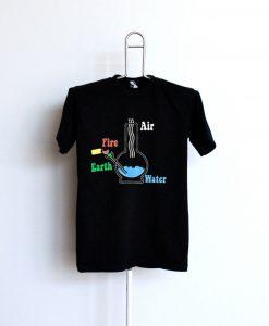 4 Elements Vintage Bong T Shirt