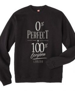 0% perfect 100% black sweatshirts