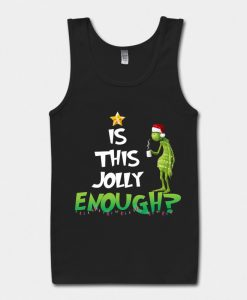 Is This Jolly Enough Black Tank Top