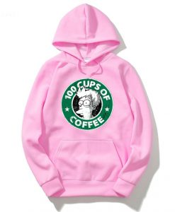 100 CUPS OF COFFEE Pink Woman Hoodie