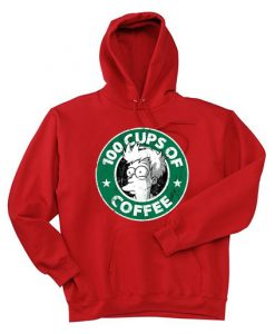 100 CUPS OF COFFEE Red Hoodie