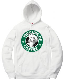 100 CUPS OF COFFEE White Hoodie