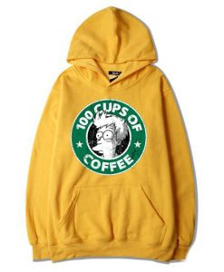100 CUPS OF COFFEE Yellow Hoodie