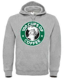100 CUPS OF COFFEE Grey Hoodie