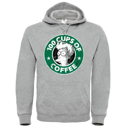 100 CUPS OF COFFEE Grey Light Hoodie